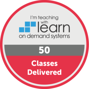 I'm teaching with learn on demand systems | 50 classes delivered